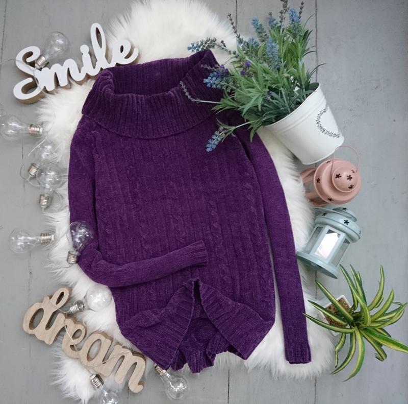 Актуальный винтажный велюровый свитер №92