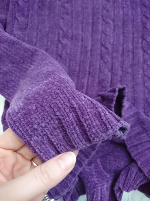 Актуальный винтажный велюровый свитер №92 - Фото 2