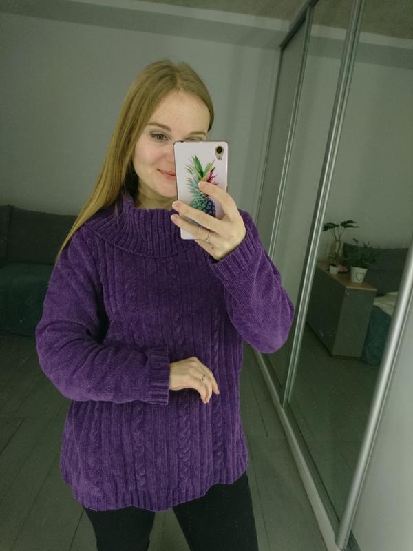Актуальный винтажный велюровый свитер №92 - Фото 3