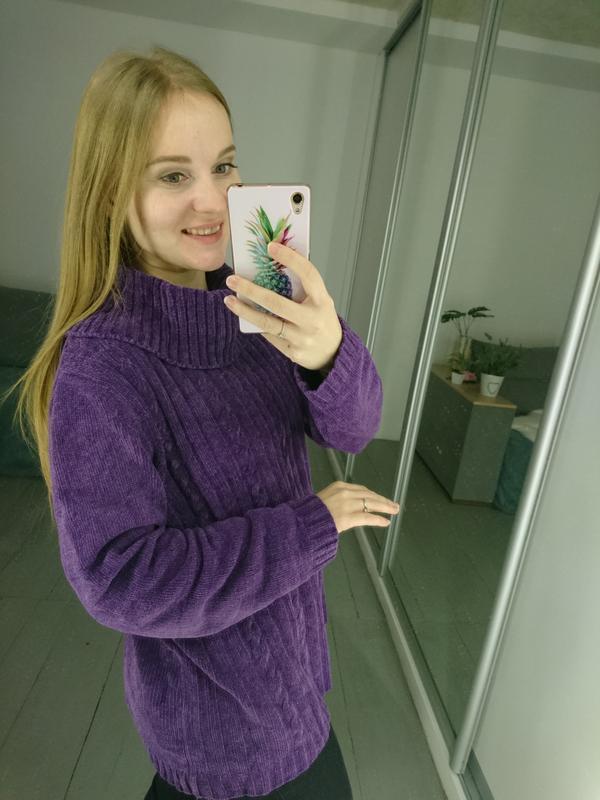 Актуальный винтажный велюровый свитер №92 - Фото 4