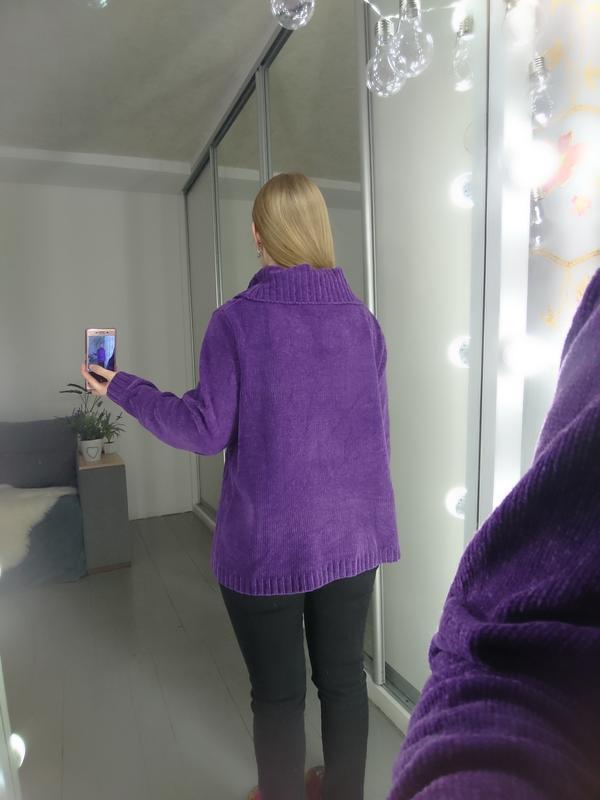 Актуальный винтажный велюровый свитер №92 - Фото 5