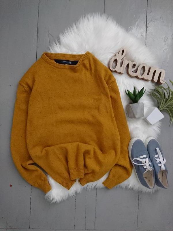 Яркий тёплый шерстяной свитер. - Фото 3