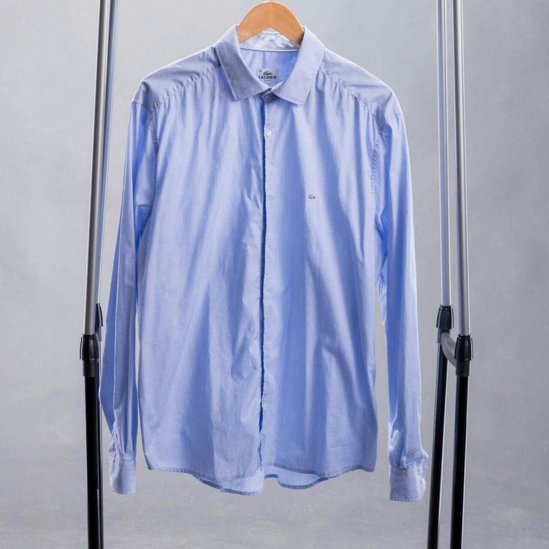 Мужская голубая хлопковая рубашка