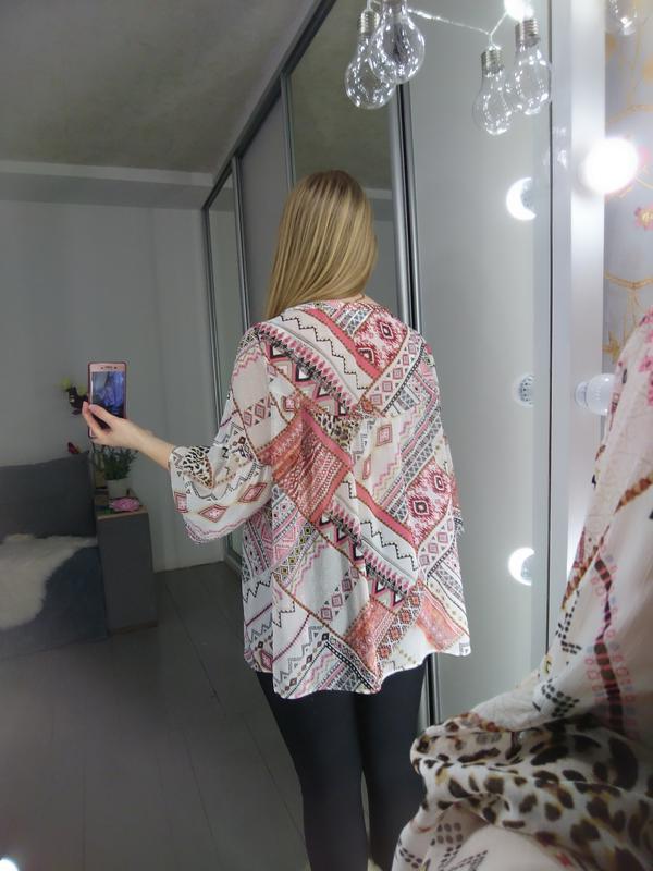 Актуальная шифоновая блуза с расклешенными рукавами №94 - Фото 5