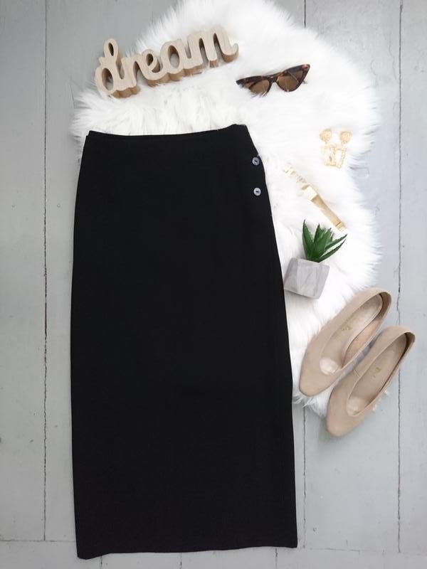 Актуальная винтажная миди юбка на запах №132