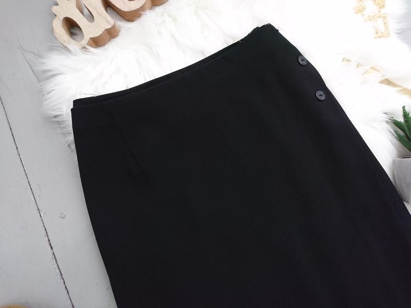 Актуальная винтажная миди юбка на запах №132 - Фото 2