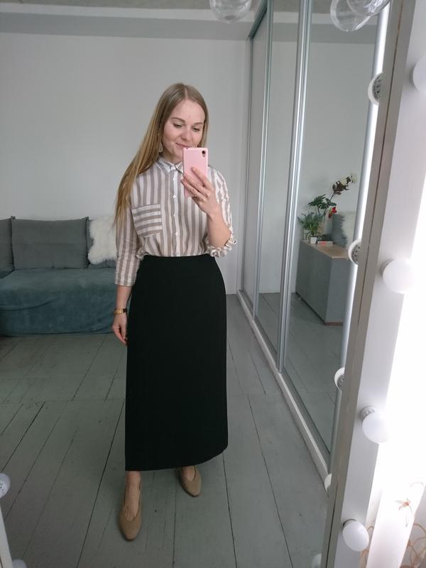 Актуальная винтажная миди юбка на запах №132 - Фото 3