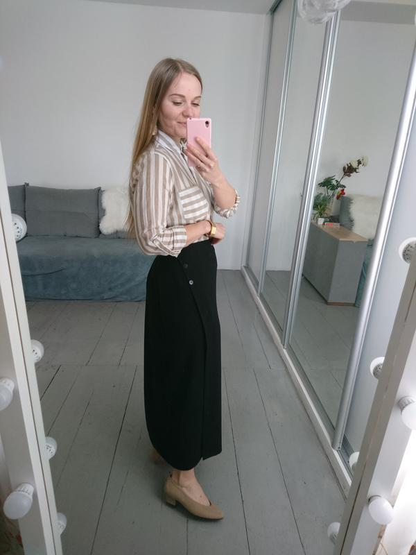Актуальная винтажная миди юбка на запах №132 - Фото 4