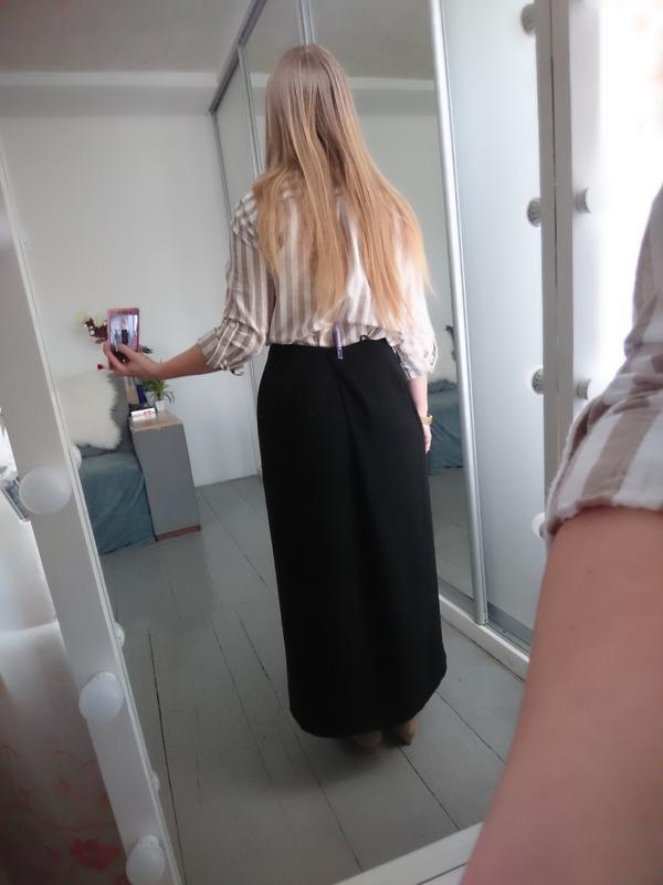 Актуальная винтажная миди юбка на запах №132 - Фото 5