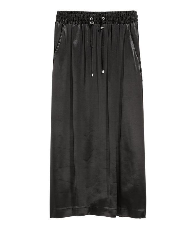 Актуальная сатиновая миди юбка №126