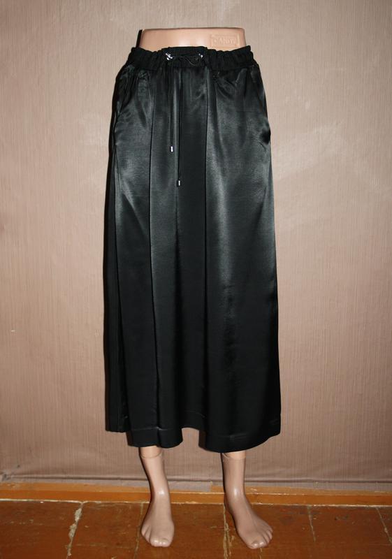 Актуальная сатиновая миди юбка №126 - Фото 2