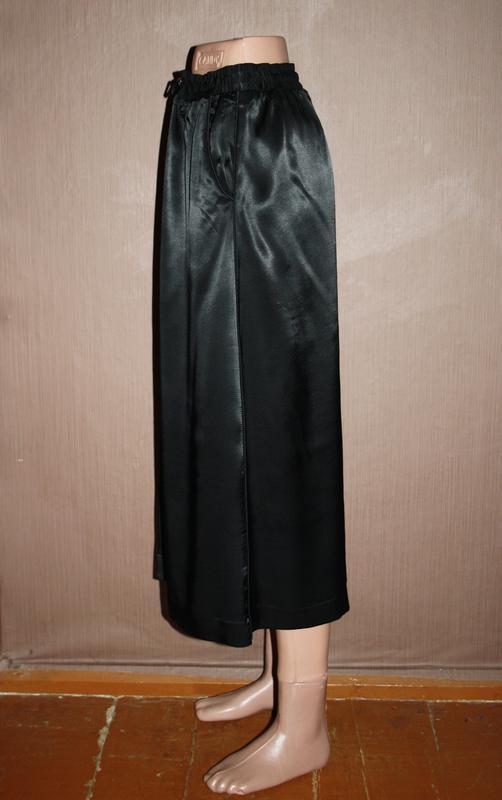 Актуальная сатиновая миди юбка №126 - Фото 3