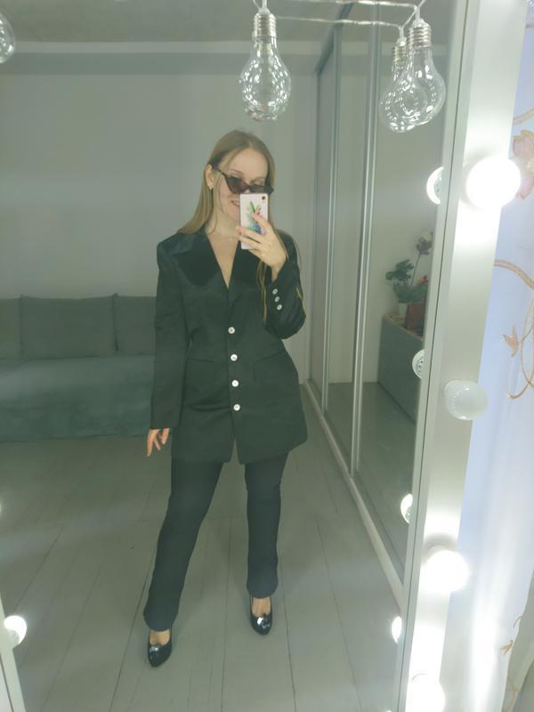 Актуальный удлиненный пиджак платье №2max - Фото 4