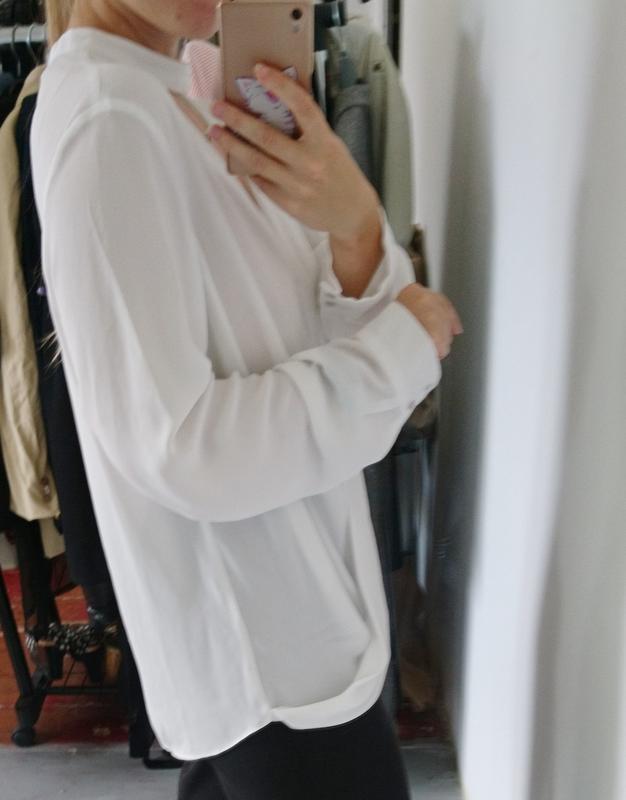 Актуальная блуза на запах с чокером №23 - Фото 4