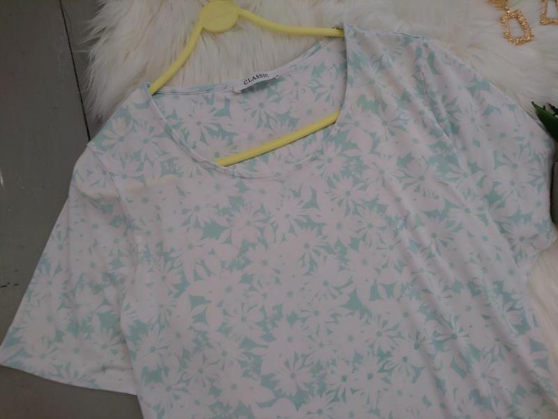 Актуальная стильная футболка цветочный принт №1max - Фото 2