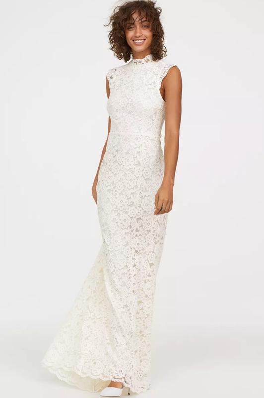 Шикарное свадебное платье в пол h&m