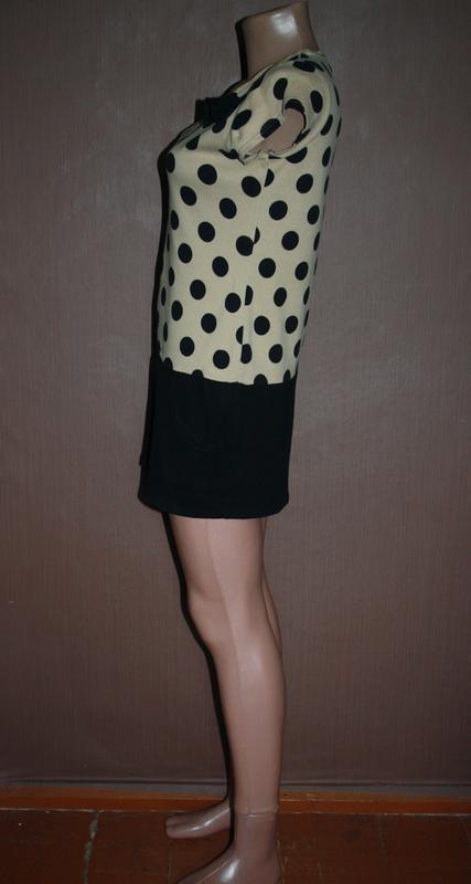 Платье туника в крупный горох - Фото 3