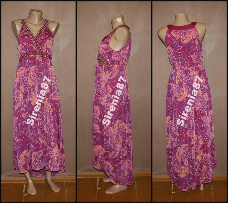 Стильное макси платье в цветах. №27