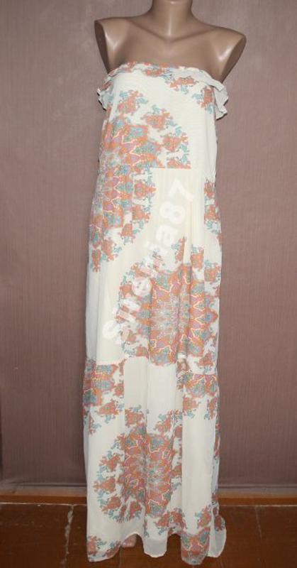 Оригинальное шифоновое платье в стиле бохо №15