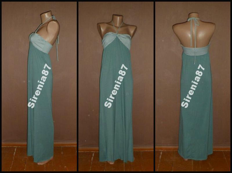 №130 стильное макси платье в пляжном стиле