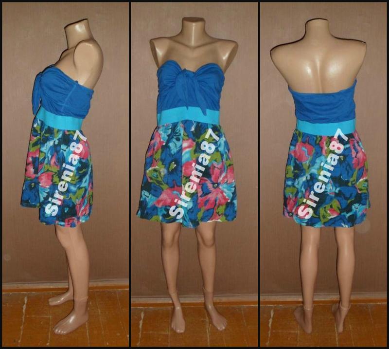 №252 милое летнее платье в цветочный принт