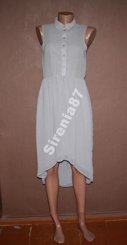 №233 асимметричное платье рубашка - Фото 2