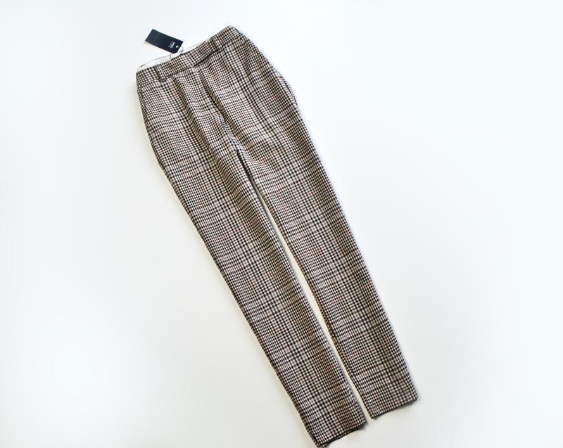 Стильные зауженные брюки в клетку marks & spencer - Фото 3