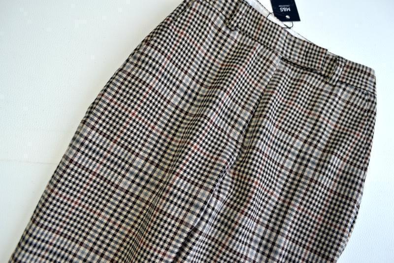Стильные зауженные брюки в клетку marks & spencer - Фото 4