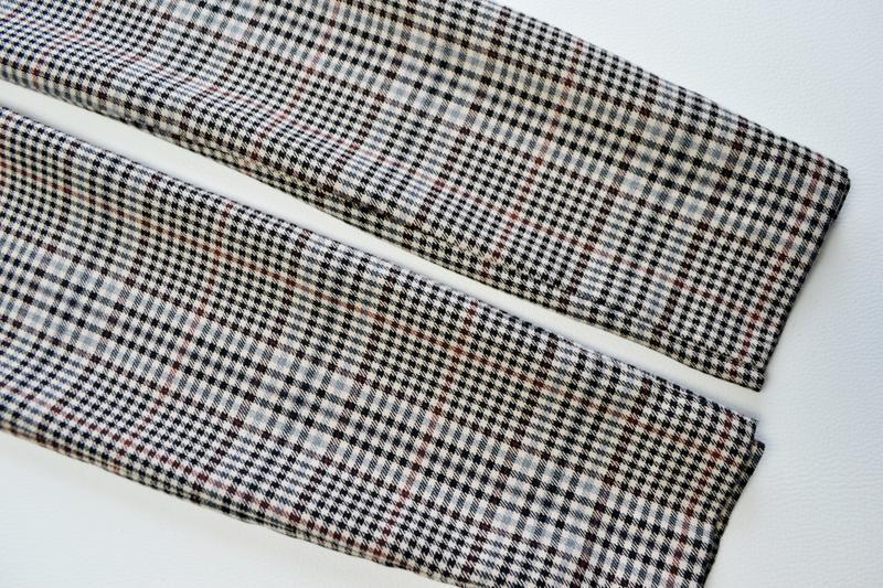 Стильные зауженные брюки в клетку marks & spencer - Фото 7