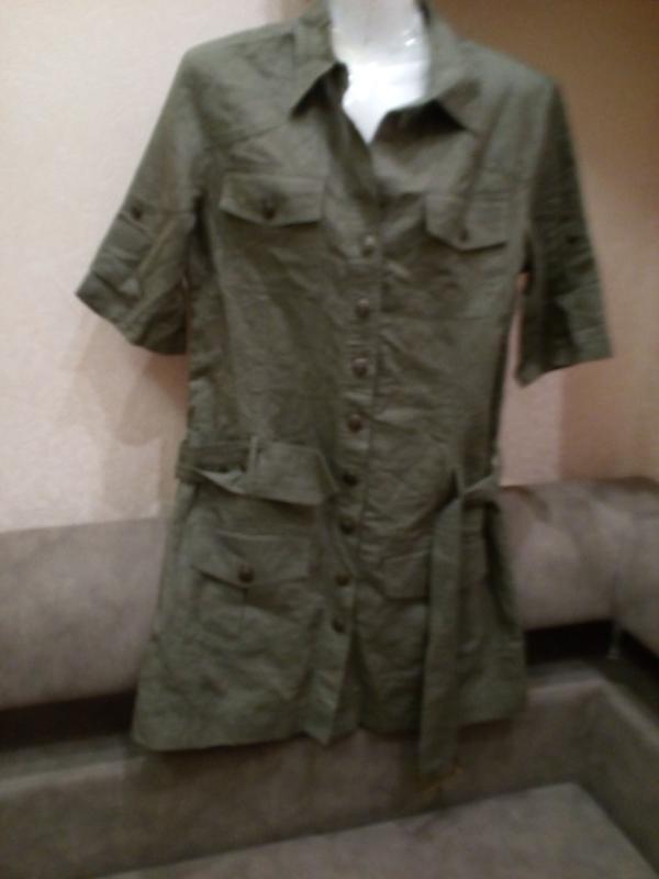 Платье в стиле сафари. лен100%