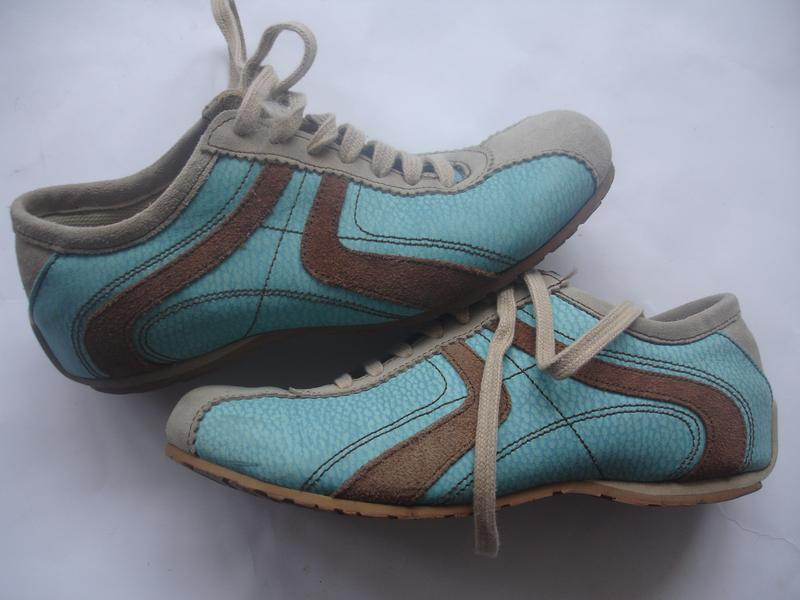 Фирменные кожаные (испания) кроссовки унисекс в идеале