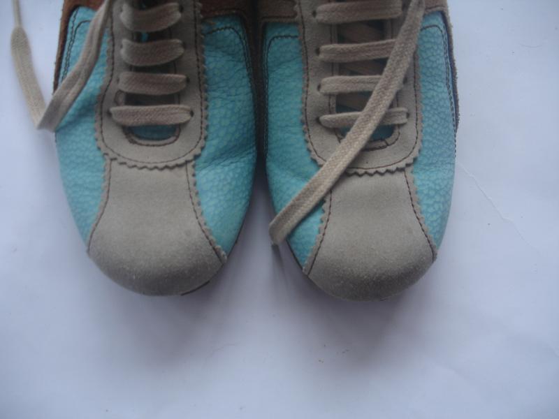 Фирменные кожаные (испания) кроссовки унисекс в идеале - Фото 4