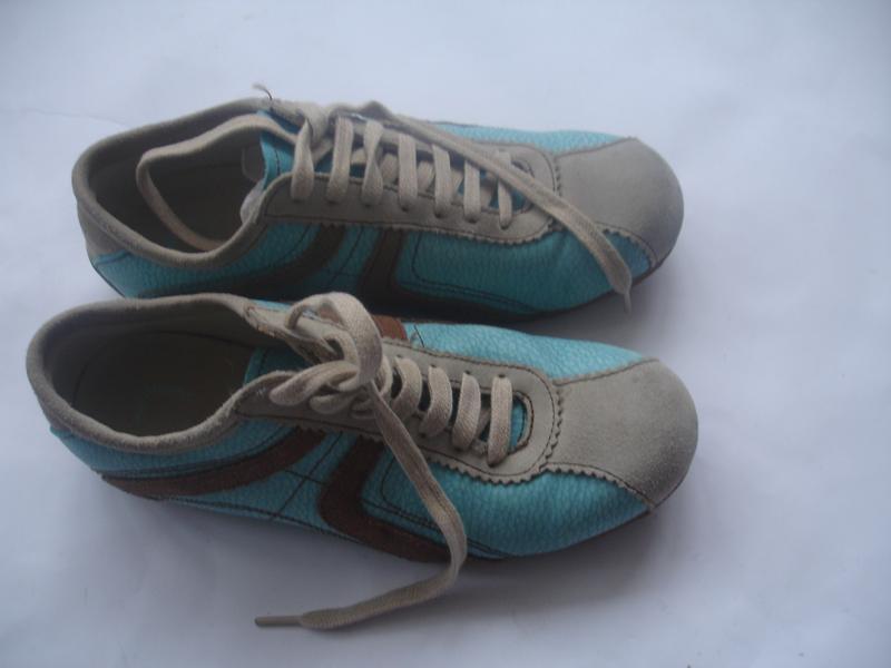 Фирменные кожаные (испания) кроссовки унисекс в идеале - Фото 5
