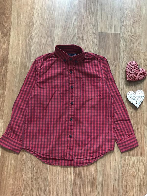 Крутая рубашка в клетку новогодний свитер next 7 лет