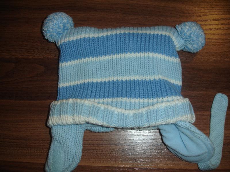 Теплая вязанная деми шапка на малыша до года идеал - Фото 3