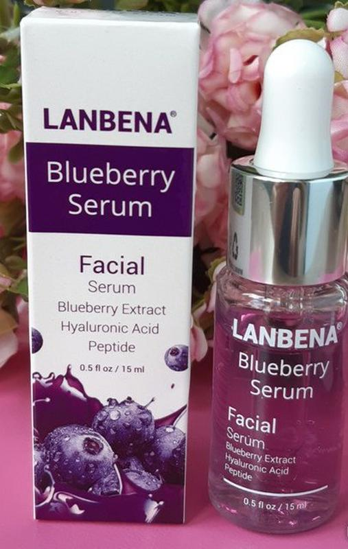 Сыворотка Lanbena Blueberry Serum, с гиалуроновой кислотой - Фото 9