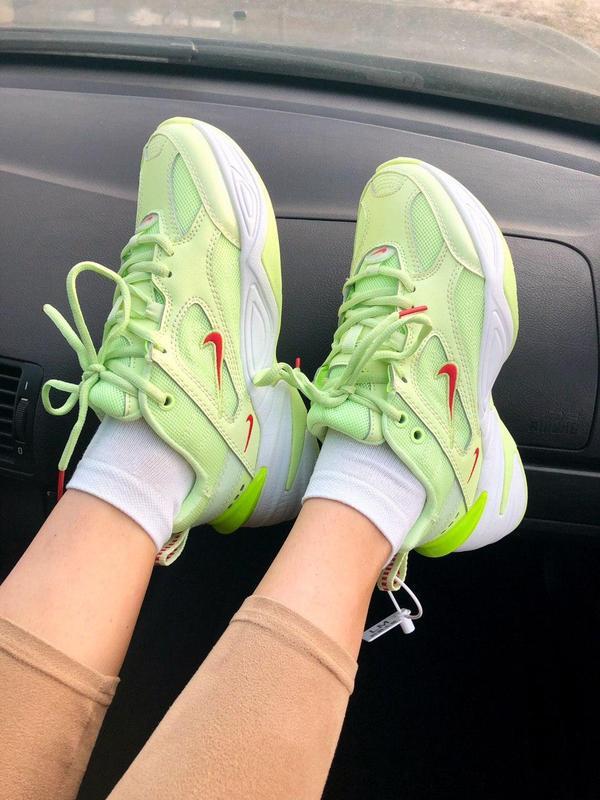 Nike m2k tekno neon green - Фото 3