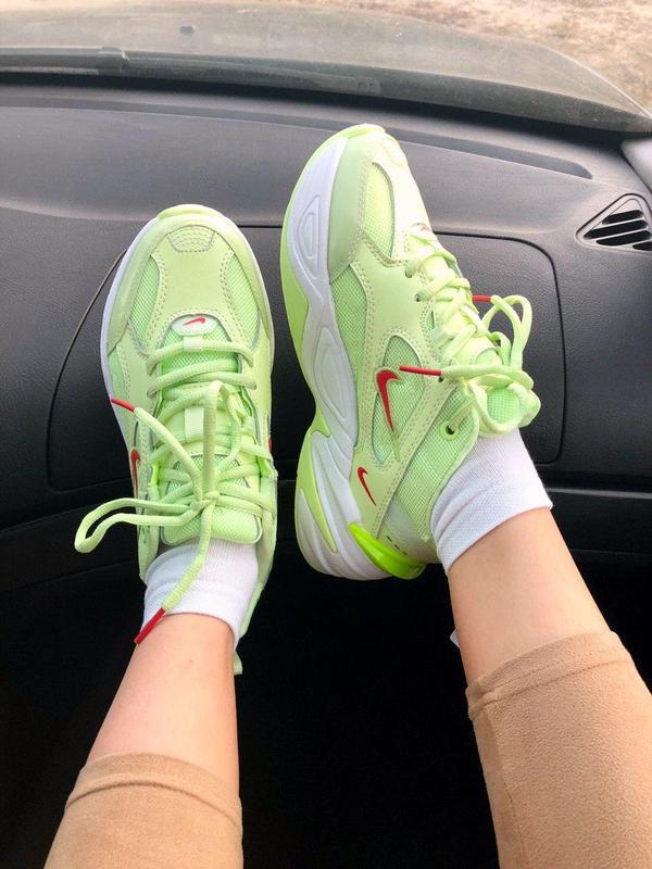 Nike m2k tekno neon green - Фото 4