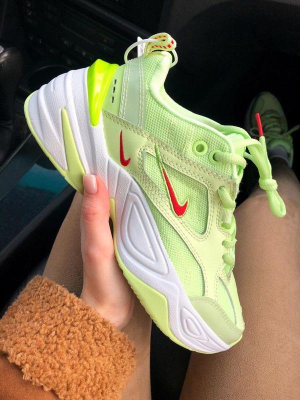 Nike m2k tekno neon green - Фото 5