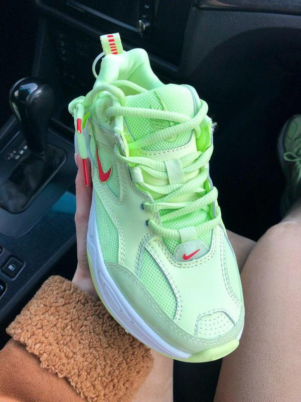 Nike m2k tekno neon green - Фото 6