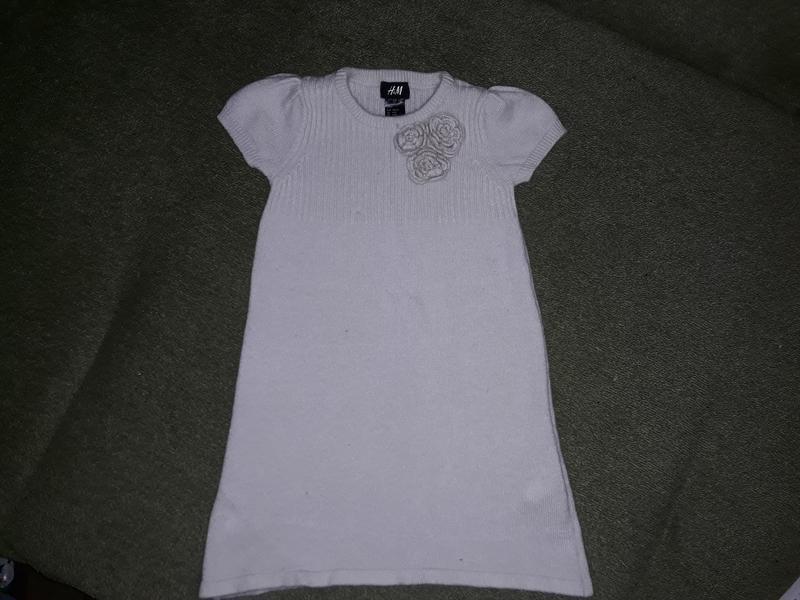 Теплое платье h&m ,4-6 л.,110-116 см