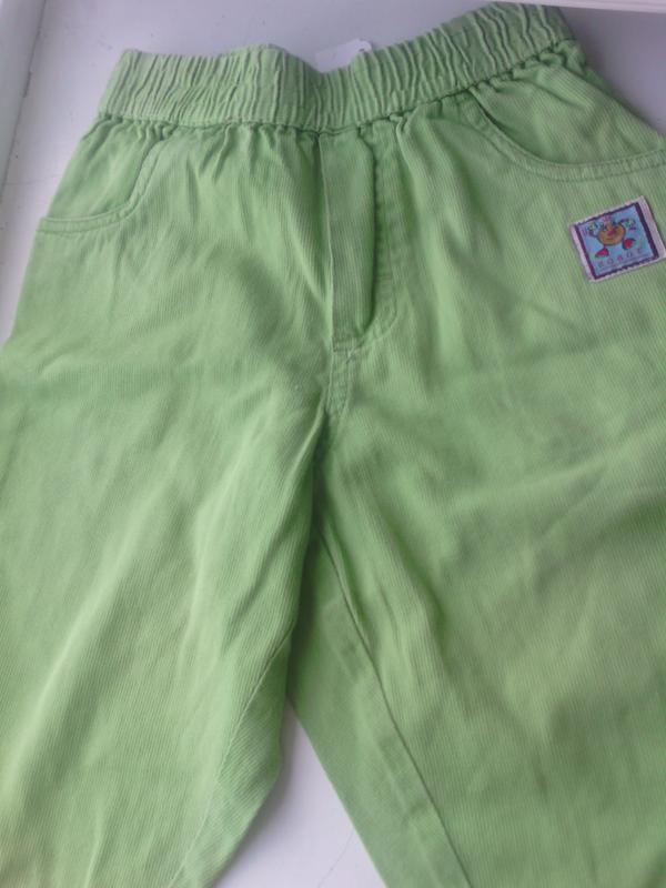 Салатовые облегченные, под микровельвет штанишки на ребенка 1-...