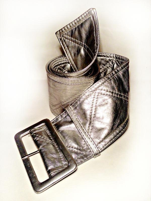 Широкий пояс, серебро, ремень для шубы, жилетки, пальто, сереб...