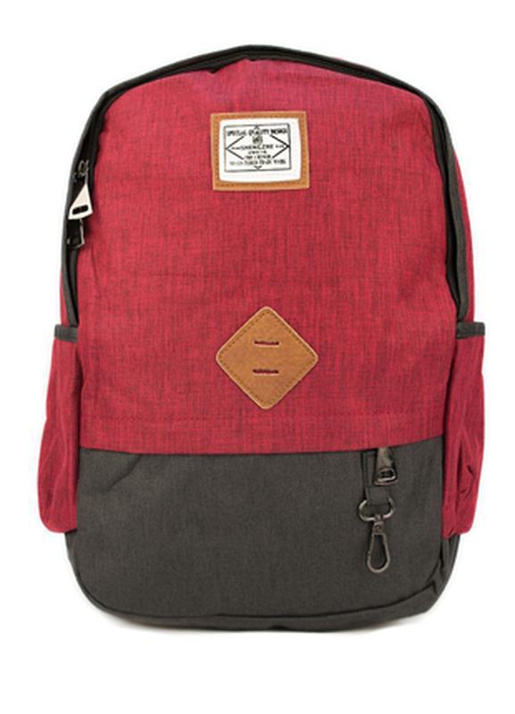 Мужской городской рюкзак красный с черным 19 л
