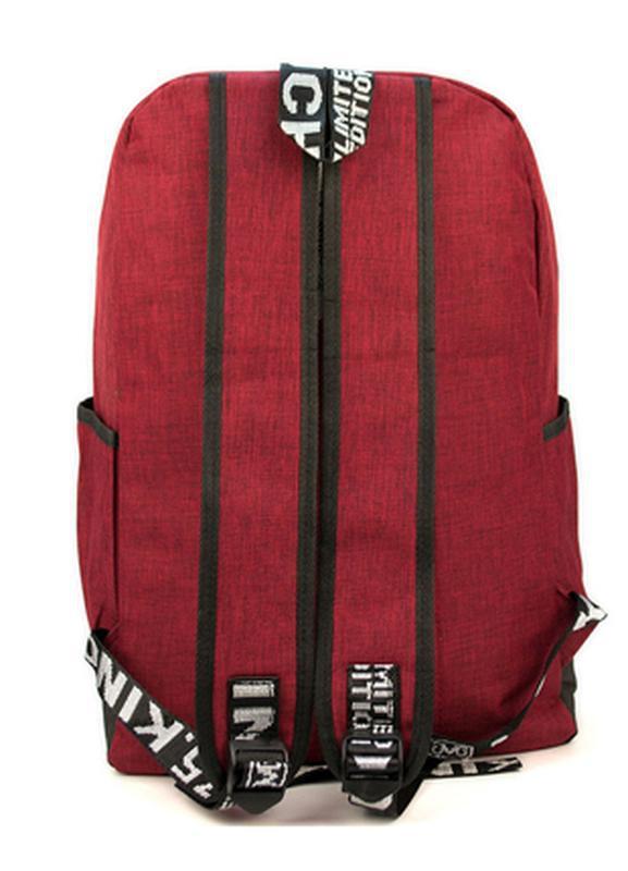 Мужской городской рюкзак красный с черным 19 л - Фото 2