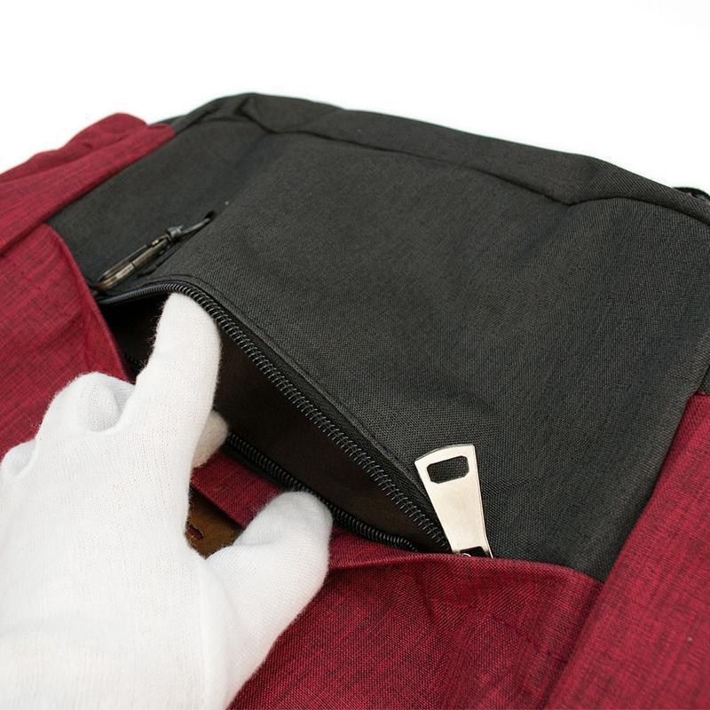 Мужской городской рюкзак красный с черным 19 л - Фото 4