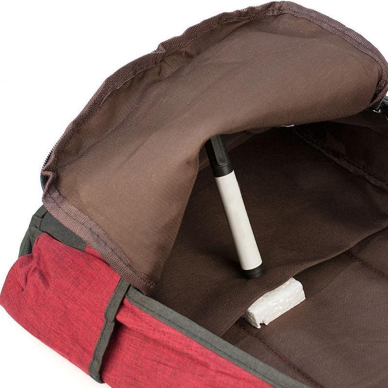 Мужской городской рюкзак красный с черным 19 л - Фото 5