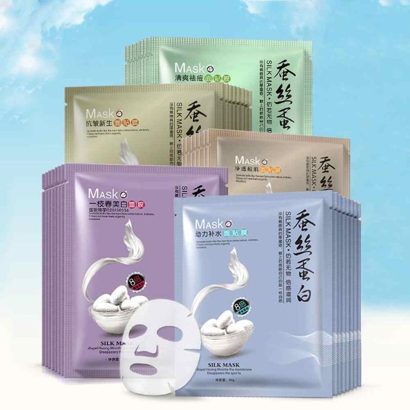 Шелковые маски для ухода за кожей лица