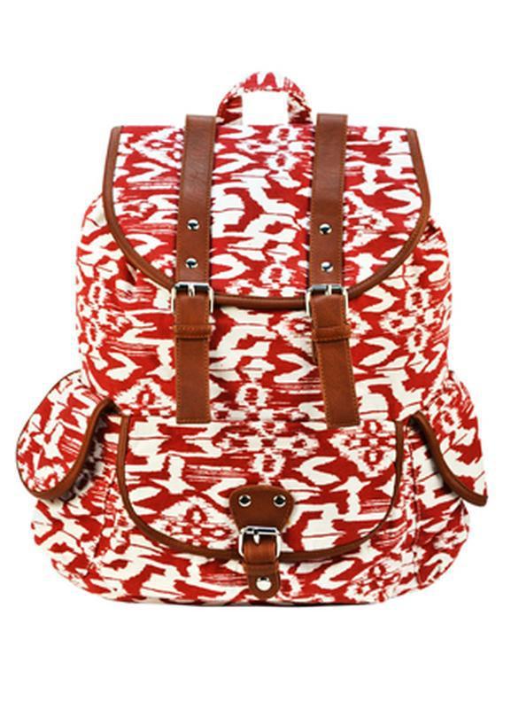 Вместительный женский городской рюкзак красный