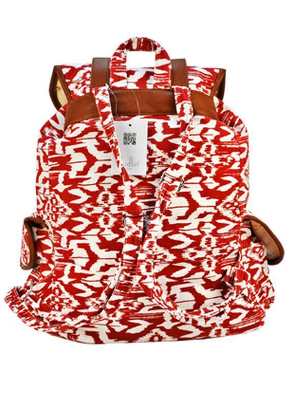 Вместительный женский городской рюкзак красный - Фото 2
